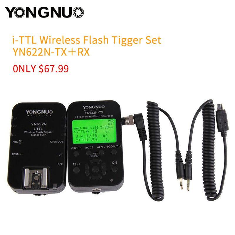 YONGNUO YN-622N-TX+RX YN-622N kit i-TTL LCD Wireless Flash Trigger Set for Nikon D800 D800S D600 D610 D7200 D7100