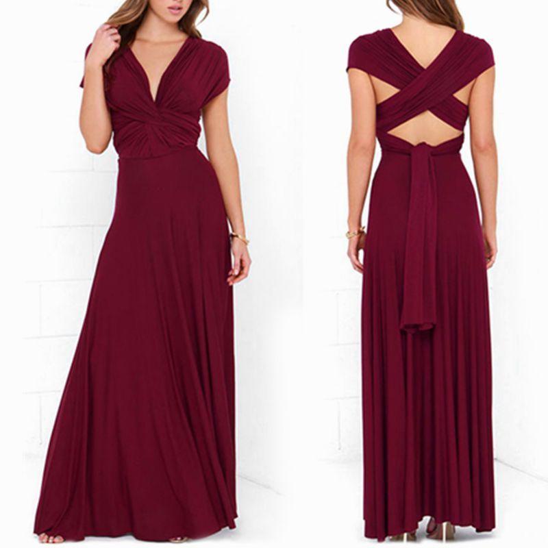Dress Women 2018 Long Summer Convertible Bohemian Dresses Casual Bandage Evening Prom <font><b>Club</b></font> Party Infinity Multiway Maxi Dresses