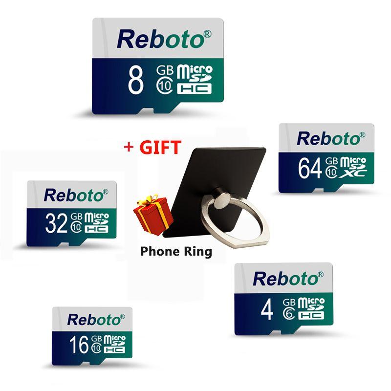 Reboto Memory Card Class 10 32GB Micro SD Card SDXC 64GB SDHC 16GB 8GB 4GB TF Card Mini Flash Card for Smart Phone Tablet Camera
