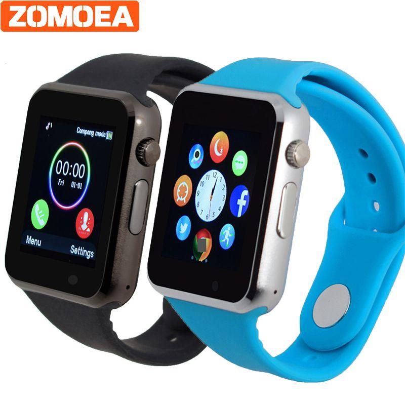 T2 Bluetooth Smart часы Поддержка sim-карты SD электроники наручные часы-телефон для Android-смартфон синий зеленый розовый ремешок pk gt08