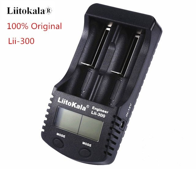 Liitokala lii-300 LCD 18650/26650/18350/16340/AA/AAA 3.7 v/1.2 v Batterie chargeur avec écran 5 v 1A lii300