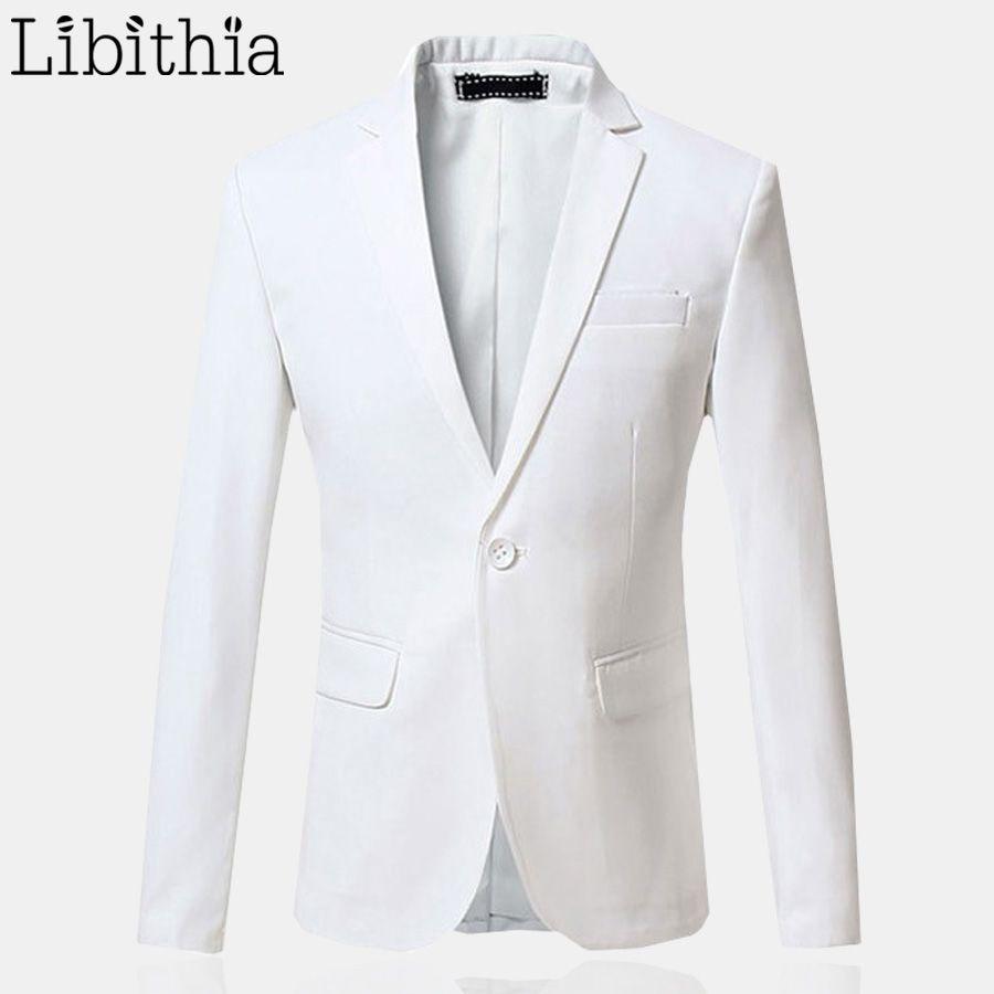Slim Fit костюм Блейзер Куртки Для мужчин плюс Размеры 5XL 6XL jaquetas masculino костюм Homme повседневная одежда белый одной кнопки e389