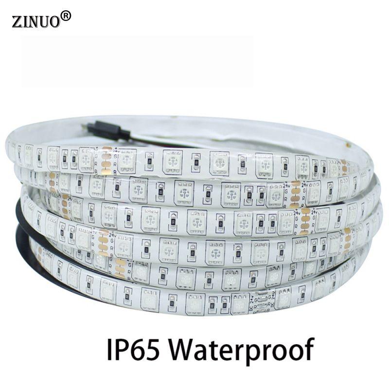 ZINUO 5 M LED étanche bande 5050 300 LED s Flexible LED bande IP65 + 44 clé IR télécommande RGB contrôleur + 12 V 3A 36 W adaptateur secteur