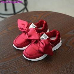 HaoChengJiaDe Enfants Filles Chaussures Avec Arc De Mode Sneaker Enfants Bébé Fille Casual Sport Chaussures Princesse Mignon Doux Chaussures en stock