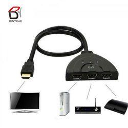 3 Port Commutateur HDMI 3 EN 1 OUT 1080 P Hub V1.4B Commutateur HDMI Switcher Splitter Câble Adaptateur Pour la TVHD XBOX PS3 Noir en gros