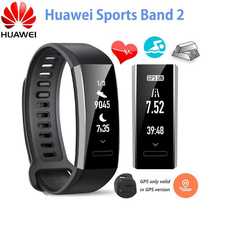 Original Huawei Sports Band 2 Smart Wristband Alloy Swimmable 5ATM 0.91