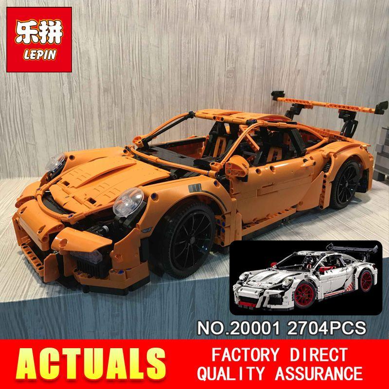 New LEPIN 20001 technic series Race Car Model Building Kits Blocks Bricks Compatible 42056 Boys Gift Educational Toys
