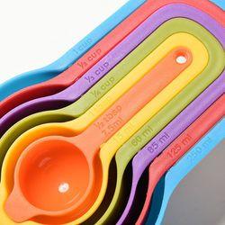 6 PCS Kitchen Colourworks Measuring Spoons Measuring Cups Spoon Cup Baking Utensil Set Kit Measuring Tools