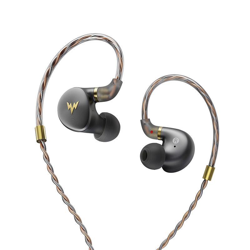 Whizzer A-HE03 Juicy Bass Earphones HiFi Hi-Res Headsets Hybrid 2 Knowles Armature Clear Warm Sound Metal In Ear Earphones