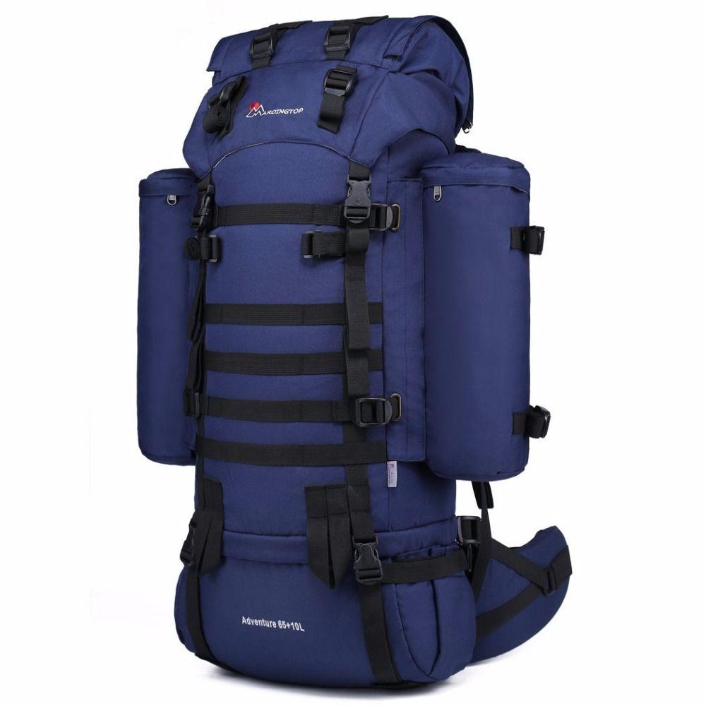 Bergfreienlicht 65L Interne Rahmen Taktische Rucksack 600D Polyester Military Molle System Rucksack für Jagd Camping Wandern Reise