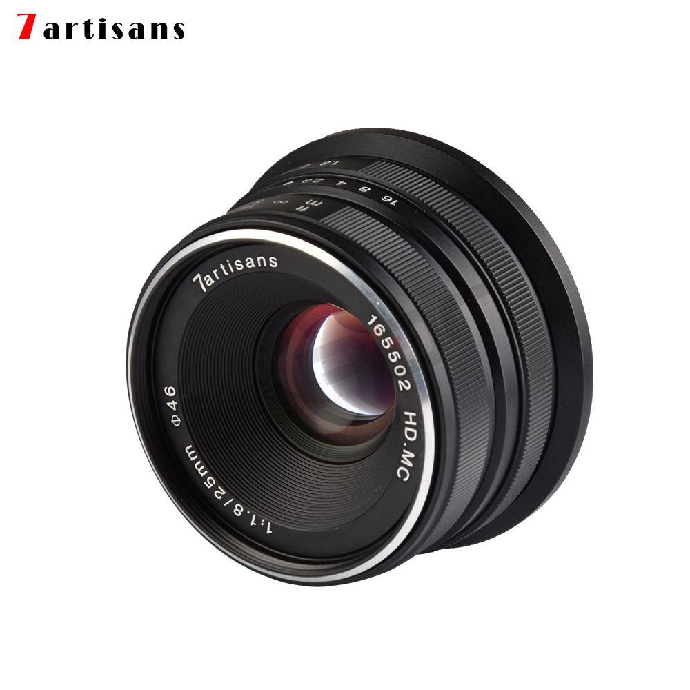 7artisans 25mm / F1.8 Prime Lens for Sony E Mount /Canon EOS-M Mount/Fuji FX Mount /M43 Panasonic Olympus to All Single Series