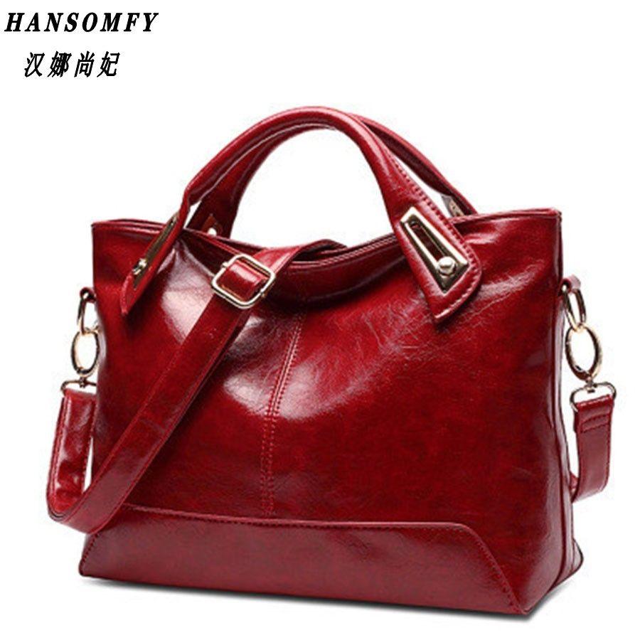 100% Genuine leather Women handbags 2018 New Cross-Section Portable Shoulder Motorcycle Bag Fashion Vintage Messenger