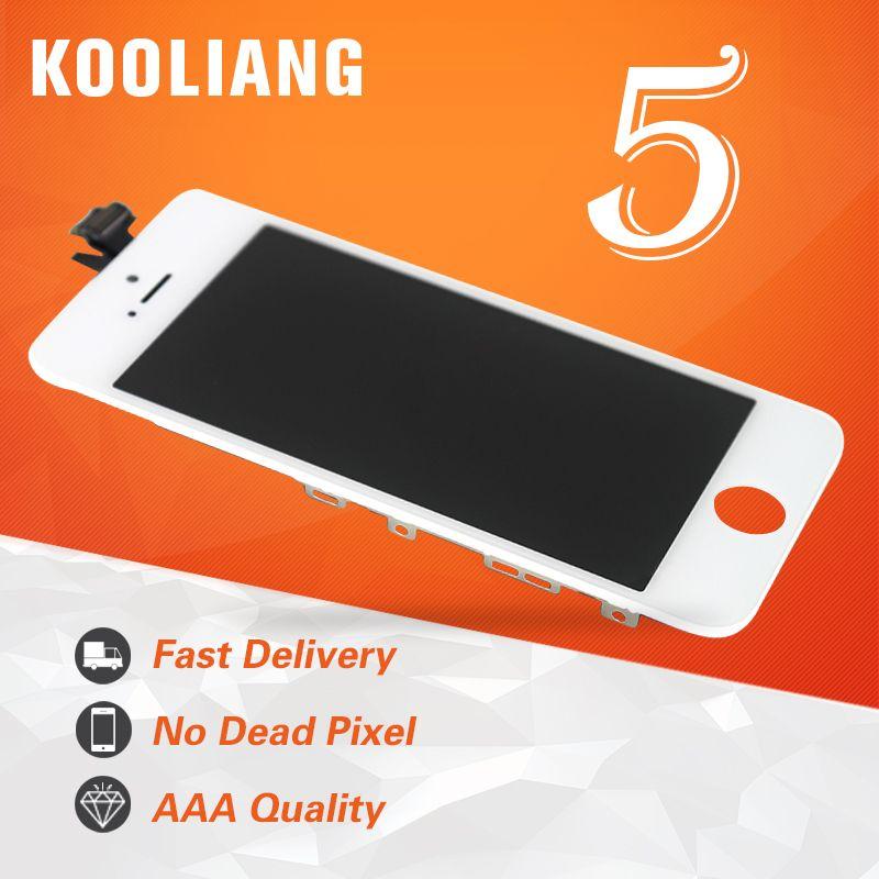 Russe entrepôt AAA Qualité Pour iPhone 5 LCD Écran Avec Tactile Digitizer Assemblée D'affichage Remplacement Bateau Libre Blanc Noir