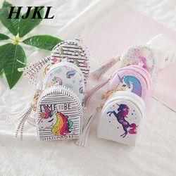 Hjkl unicornio de dibujos animados monederos mujeres pequeño lindo kawaii dominante dinero para las señoras de las muchachas niños monedero niños
