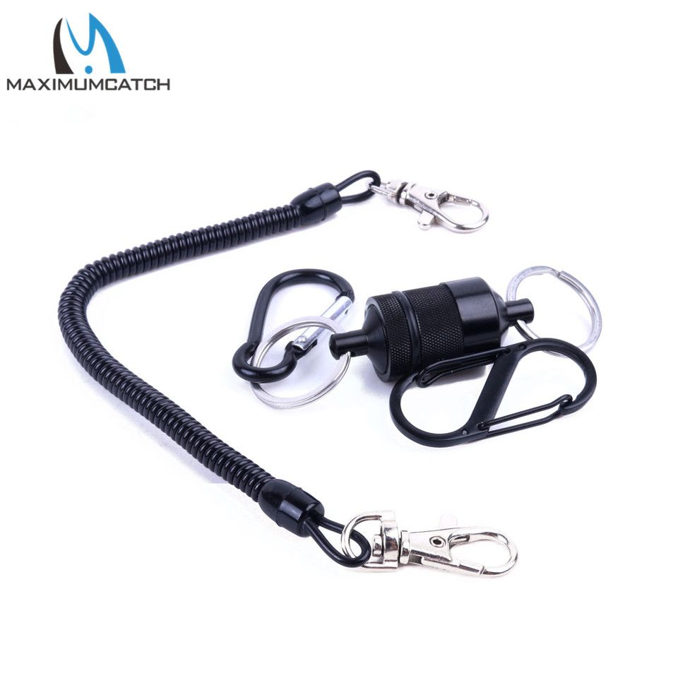 Maximumcatch High Quality Magnetic Fly Fishing Tool Magnetic Net Release With Net Cord