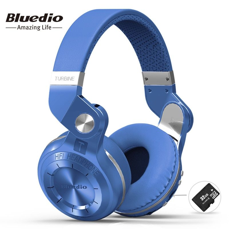 Bluedio T2+ fashionable foldable over the ear bluetooth headphones BT 4.1 support FM radio& SD card functions Music&phone calls
