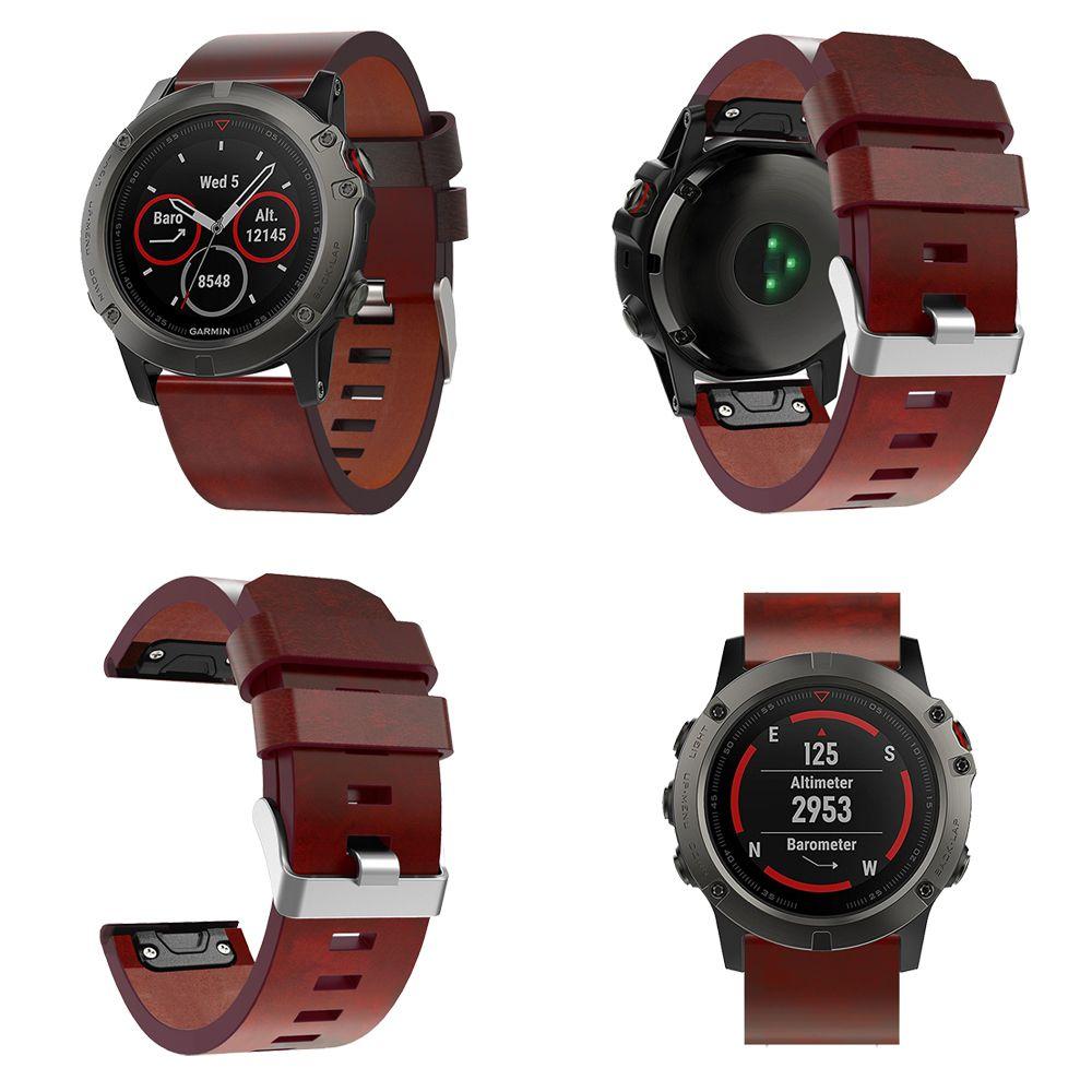 Bracelet de remplacement de bracelet de montre en cuir de luxe à dégagement rapide 26 22 MM pour Fenix 5X 5X Plus 3 3HR Garmin Fenix 5 montre