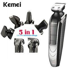 Kemei 5 en 1 Étanche Rechargeable Électrique Barbe Tondeuse Nouveau Cutter Tondeuse À Cheveux Professionnelle Tondeuse Pour Hommes KM-1832