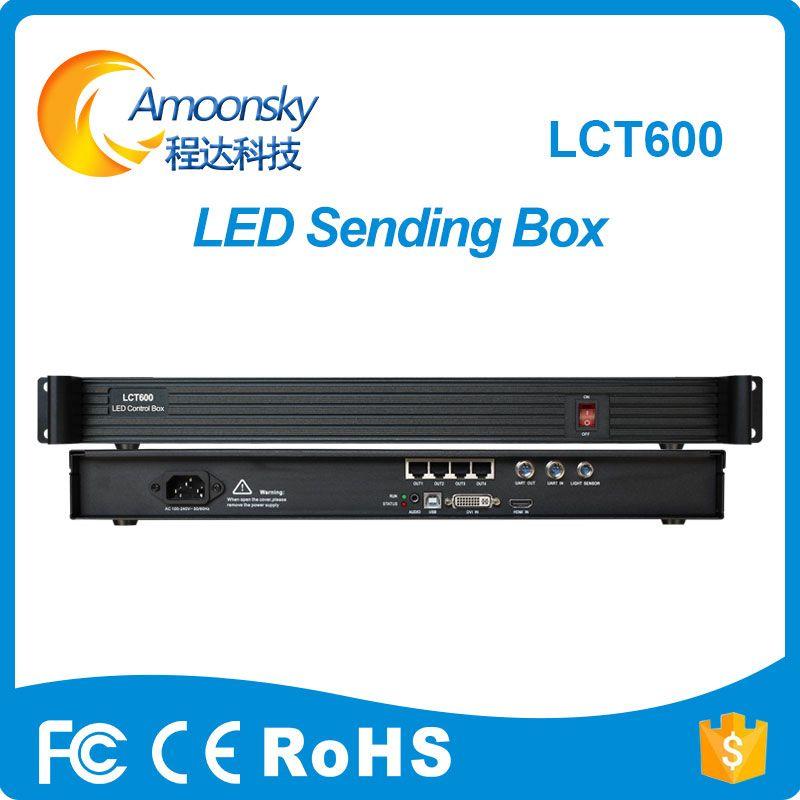 LCT600 LED Sending Card Box Full Color LED Synchronous MSD600 Sending Card Novastar Support laptop HDMI DVI input