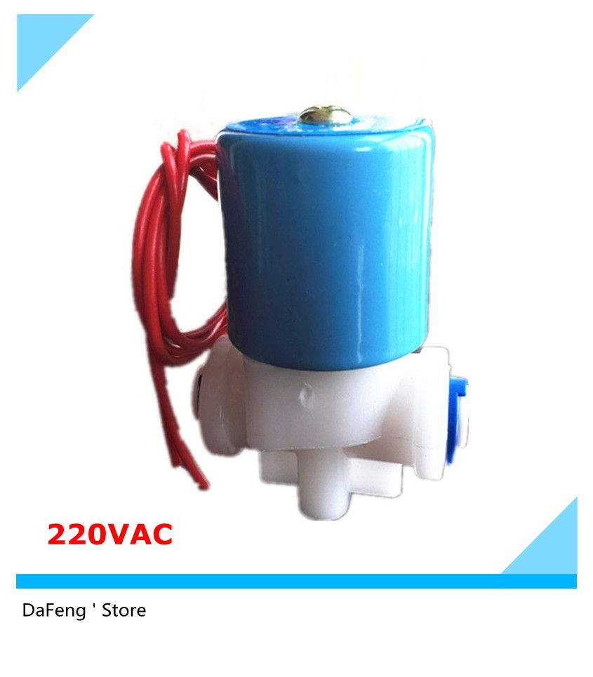 Électrovanne 220Vac livraison gratuite, raccord rapide 6.35mm vanne à eau 1/4