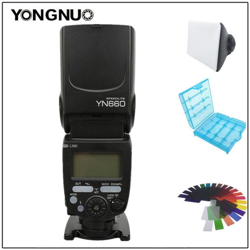 YONGNUO YN660 Wireless Flash Speedlite GN66 2.4G Wireless Radio Master Slave for Canon Nikon Pentax Olympus d3400 1100d 1300d
