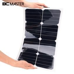 BCMaster 18V 25W Solar Panel Bank Flexible Car Vehicle Auto Solar Energy Battery Panel Board For Outdoor Activity