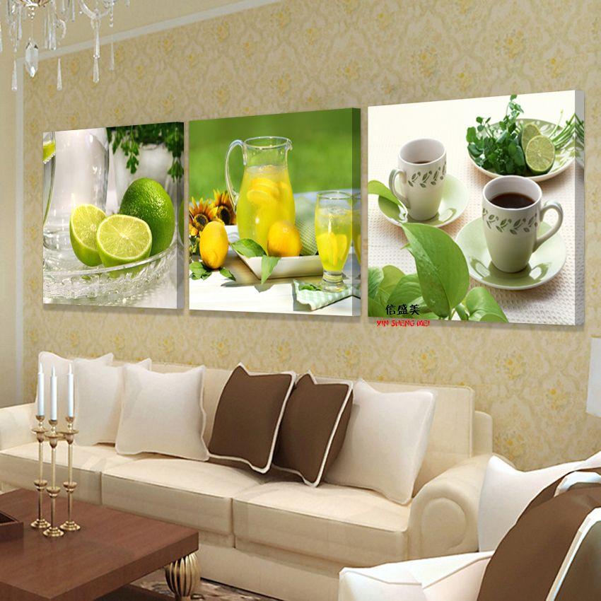 3 panneau moderne toile peinture Fruit photo mur Art photos pour salon modulaire peintures imprimer peintures à l'huile pas de cadre