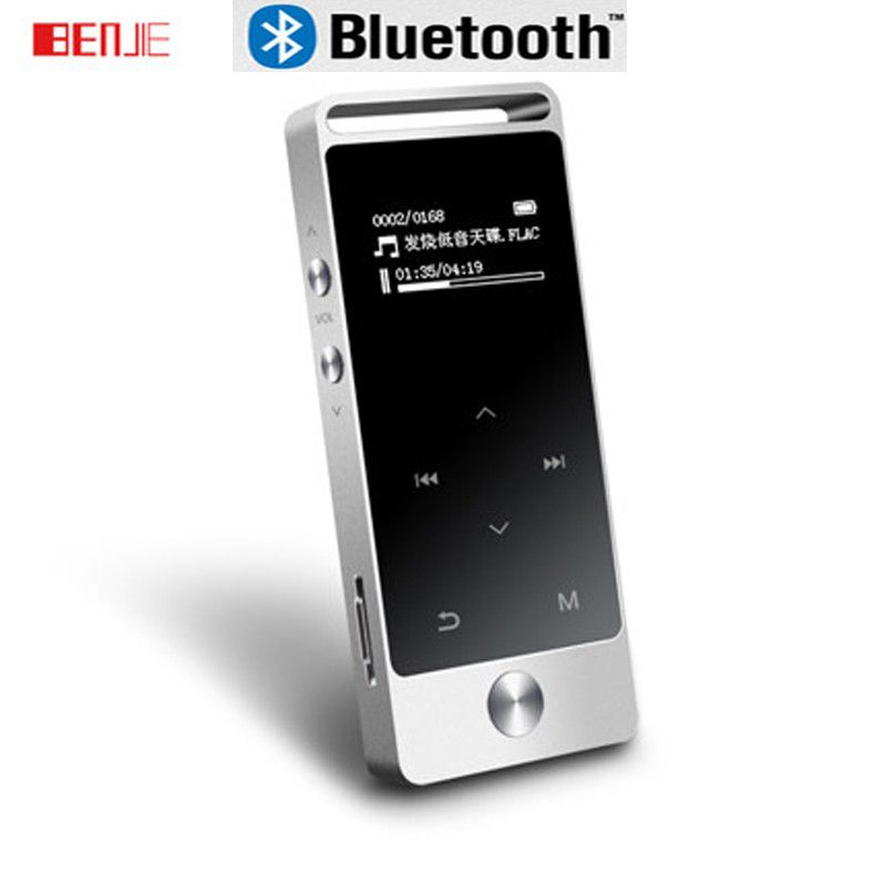 Benjie S5 MP3 Player Touch Screen 8GB Metal Mini Digital Player High Sound Quality APE/FLAC/WAV Lossless Music Player with FM