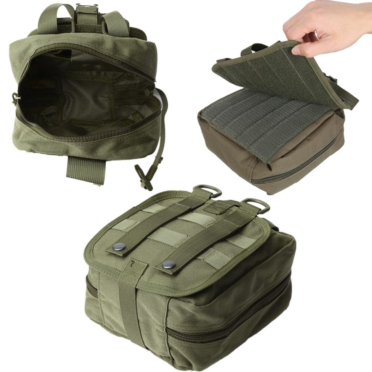 NEW Empty Bag Tactical Medical First Aid Utility Pouch Emergency Bag For Vest & Belt Treatment Pack Outdoor