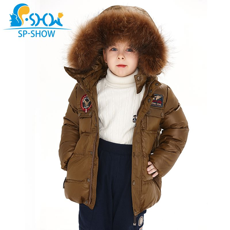 2018 SP-SHOW Kids Winter Boy And Girl Brand Ski Hooded Jacket Windproof Siut Thick Warm Fleece Coat+Trousers Two-Piece 04