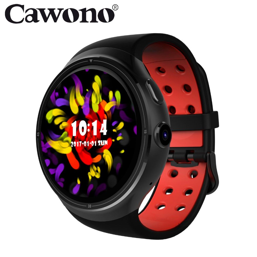 Cawono CA03 GPS WiFi 3G Bluetooth Smart Watch 1GB + 16GB MTK6580 Nano Sim card Wristwatch Heart Rate Tracker Smartwatch relogio