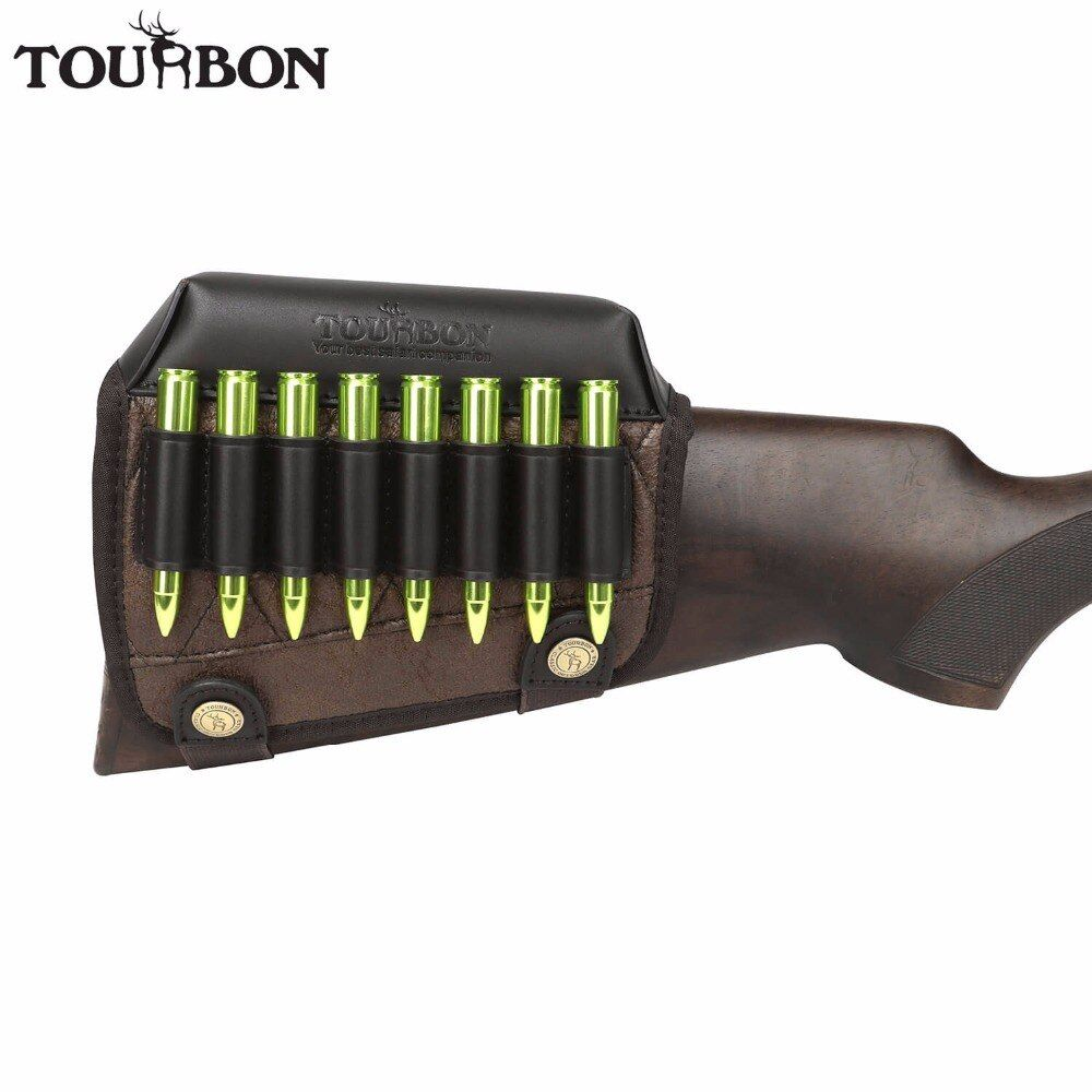 Ankunfts-tourbon Jagd Gun Hinterschaft Wange Rest Aufbruchauflage Gewehr Patronen Ammo Halter für die Rechte Hand Schießgewehr Accessorries