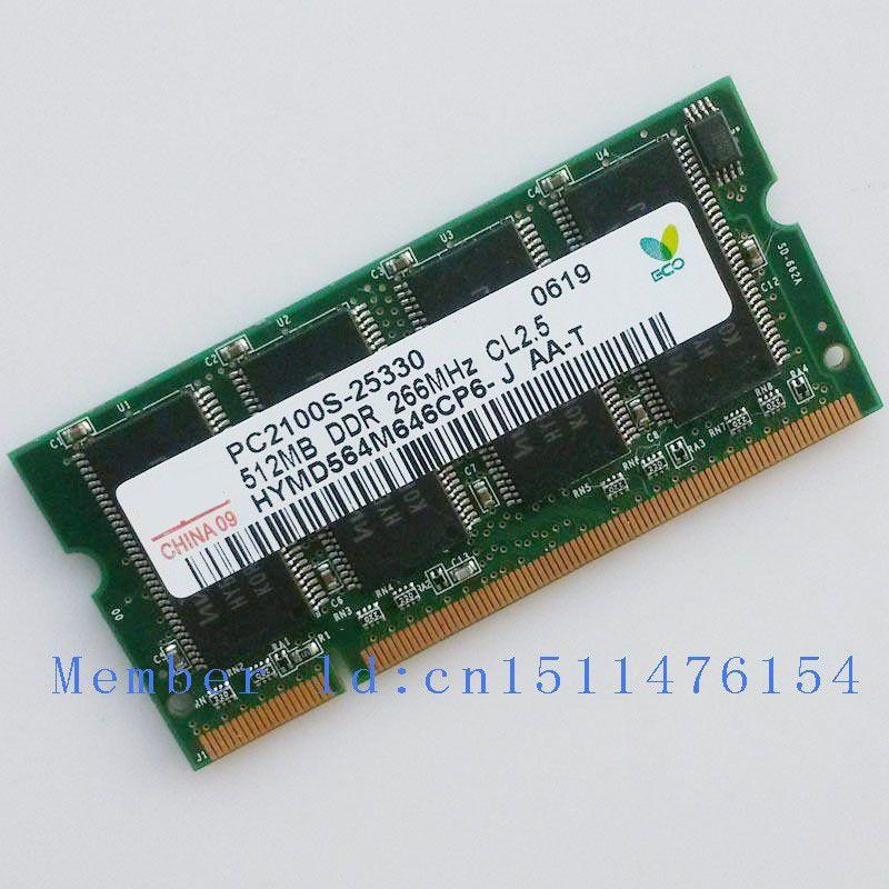 Hynix Nouvelle RAM ddr 512 mb PC2100 DDR266 266 mhz 200pin DDR1 Sodimm Mémoire Pc Portable Ordinateur Portable Ram Ordinateur livraison gratuite