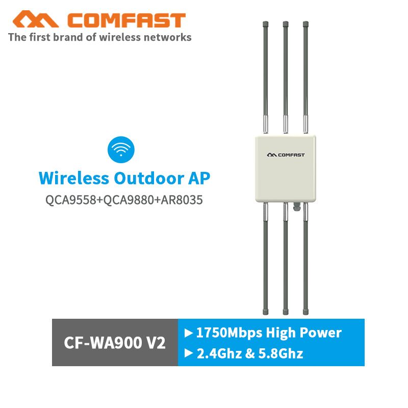 Comfast 1750Mbps 500mW gigabit Outdoor AP router wireless wifi base staion omnidirectional CPE AP with 6*8dBi antennas for park