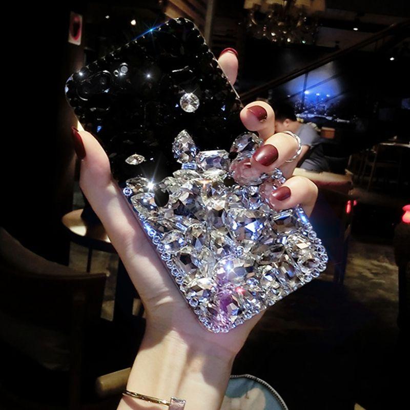 For Samsung J7 Prime Diamond Case, 2018 New Luxury Lady Rhinestone Stone Jewelled Case For Samsung J2 J3 J5 J7 Prime Glitter