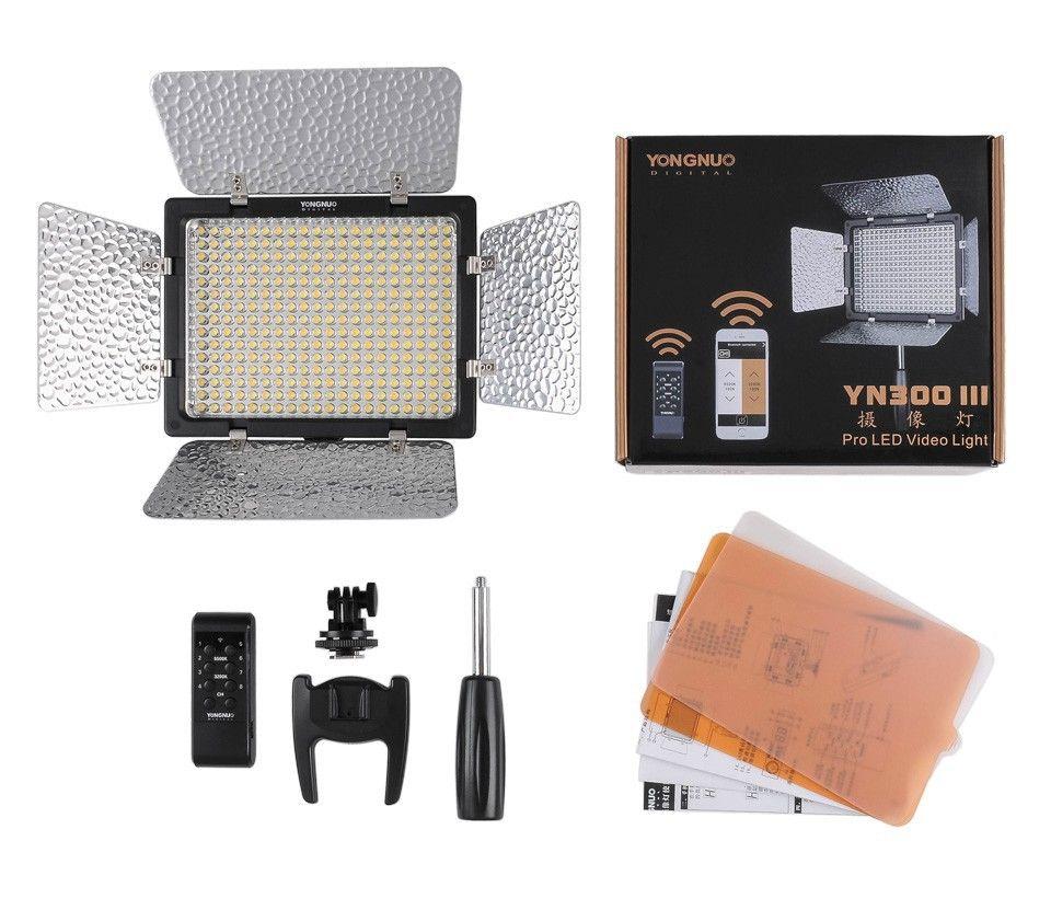 YongNuo YN300 III YN-300 lIl 3200K-5500K Pro LED Video Light for Sony Canon Nikon Camera Camcorder