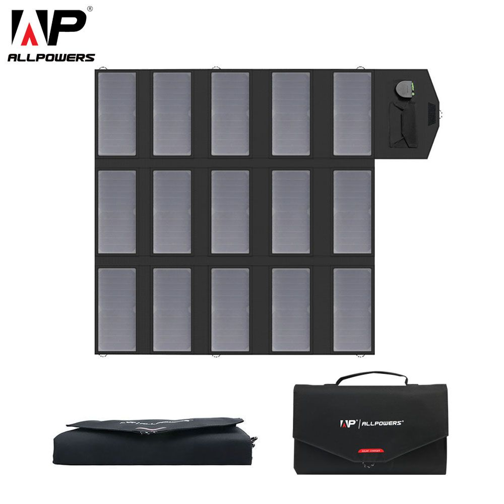 ALLPOWERS Portable Solar Panel Charger 100W Foldable Solar Panel Solar Battery Charger for iPhone iPad Samsung Dell Acer HP.