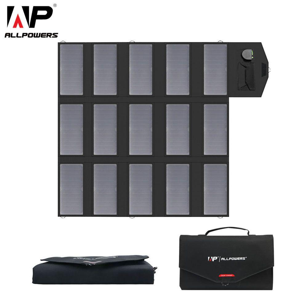 ALLPOWERS Tragbare Solar Panel Ladegerät 100 Watt Faltbare Solar Panel Ladegerät für iPhone iPad Samsung Dell Acer HP.