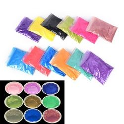 12 Couleur 10g Sain Naturel Minérale Mica Poudre DIY Pour Colorant savon Savon Colorant Maquillage Fard À Paupières Poudre De Savon Soins de La Peau nouveau
