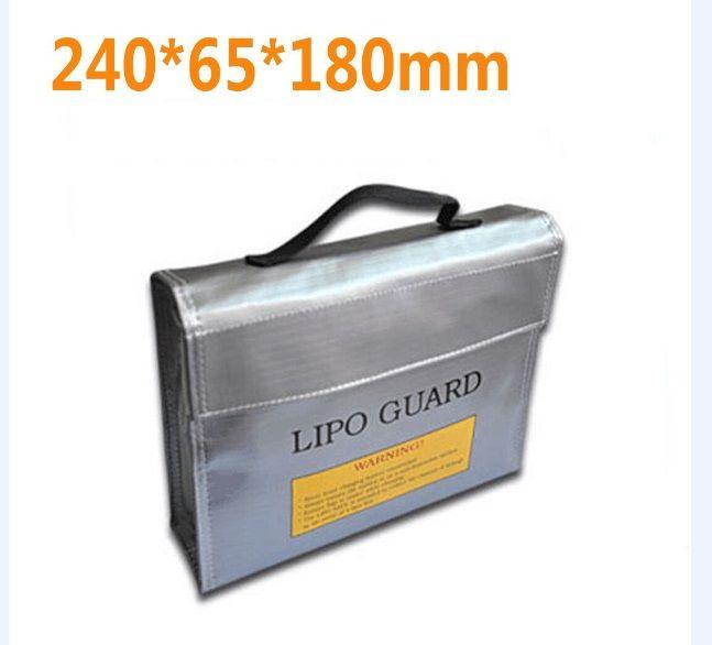 F16390/2 Haute Qualité Ignifuge Antidéflagrants RC LiPo Sécurité de La Batterie Sac Safe Guard Charge Sack 240*180*65mm L M S taille