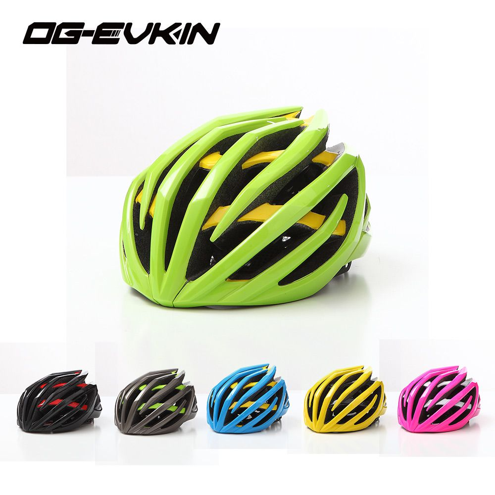 OG-EVKIN Super Light Men Women Cycling Helmet With Lens Road Bike Mountain Bicycle Helmet Safety Night Light <font><b>Bicicleta</b></font> Ciclismo