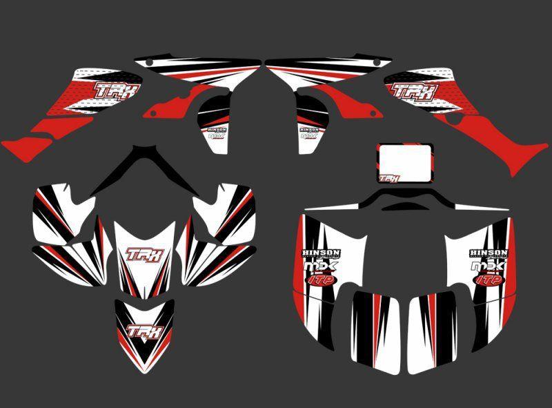 0351 Новый стиль наклейки Графика Наборы пригодный для Honda trx450r TRX 450r FourTrax ATV trx450 x