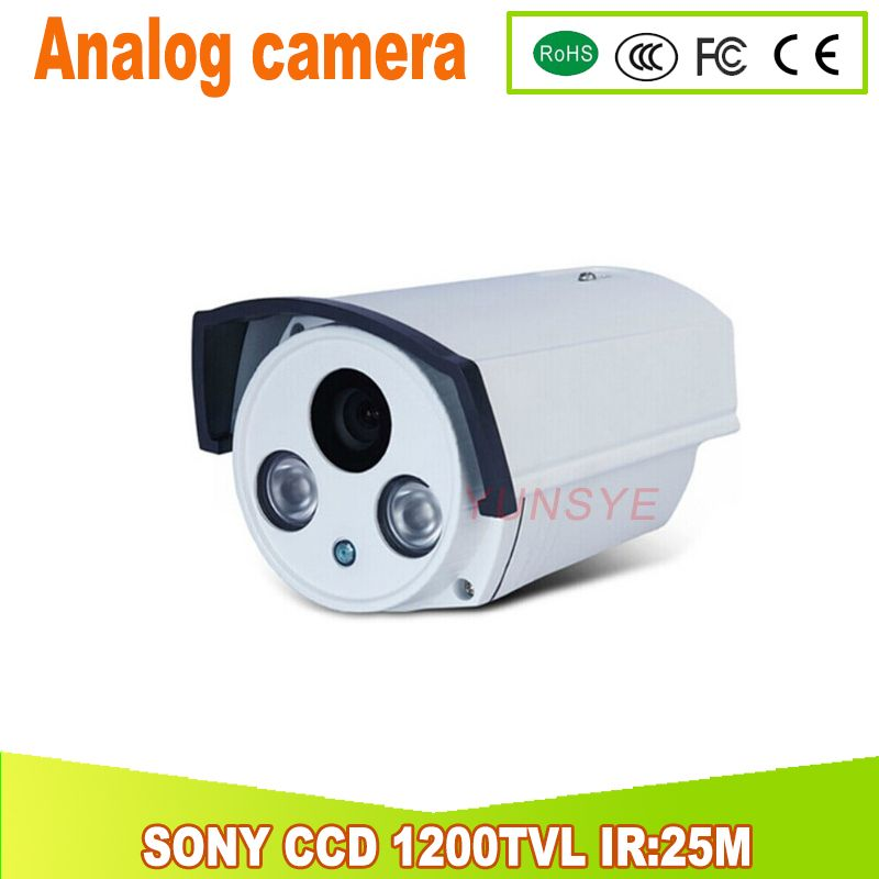 1200TVL SONY CCD Analog camera IR Cut Filter Day/Night Vision home security kamera IR:25M 4MM Lens YUNSYE