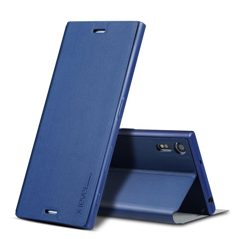 X-Level Luxury PU Leather Case for Sony Xperia XA1 ultra Z3 Z4 Z5 Plus XZ premium Flip Cover for sony E5 XA ultra C6 Stand Case