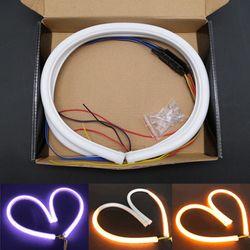3 ukuran Knight Rider Sequential run ganda warna Switchback LED DRL Putih + Amber light dengan Putaran Sinyal