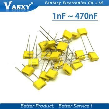 20 pcs Sécurité Polypropylène En Plastique Film 100 V 1nF ~ 470nF 100nf 220nf 10nf 47nf 22nf 1nf 0.47 uf 0.1 uf Correction condensateur