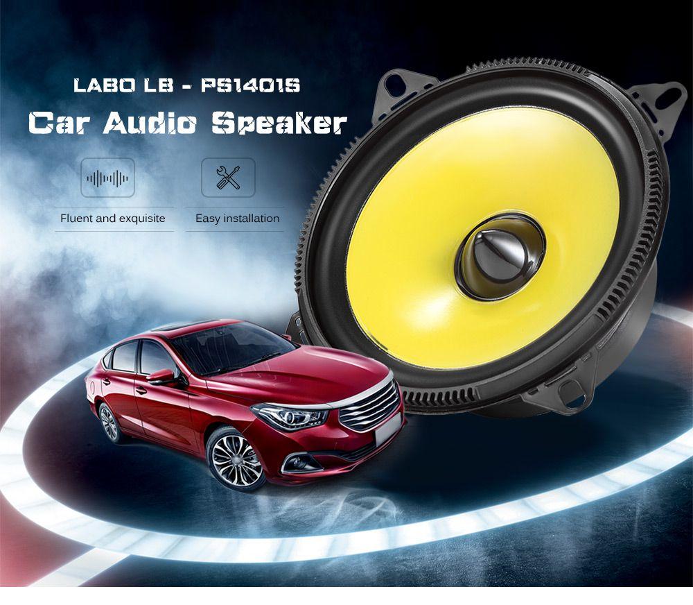 Rectangle PS1401S enceinte de voiture Subwoofer Paire 4 pouces Gamme Complète chaîne hi-fi Gamme Complète avec de L'aspect Aérodynamique