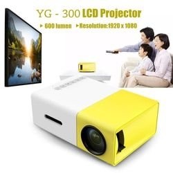 YG300 YG - 300 LCD Projector Full HD Video Projector LED 600LM 320 x 240 1080P Mini Proyector for Home Theater Media Player