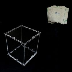 DIY 3D 8S mini LED Light Cubeeds Acrylic  case- note:cubeeds box  only with the use of our 3d8 mini cubeed,size is 12x12x h14 cm