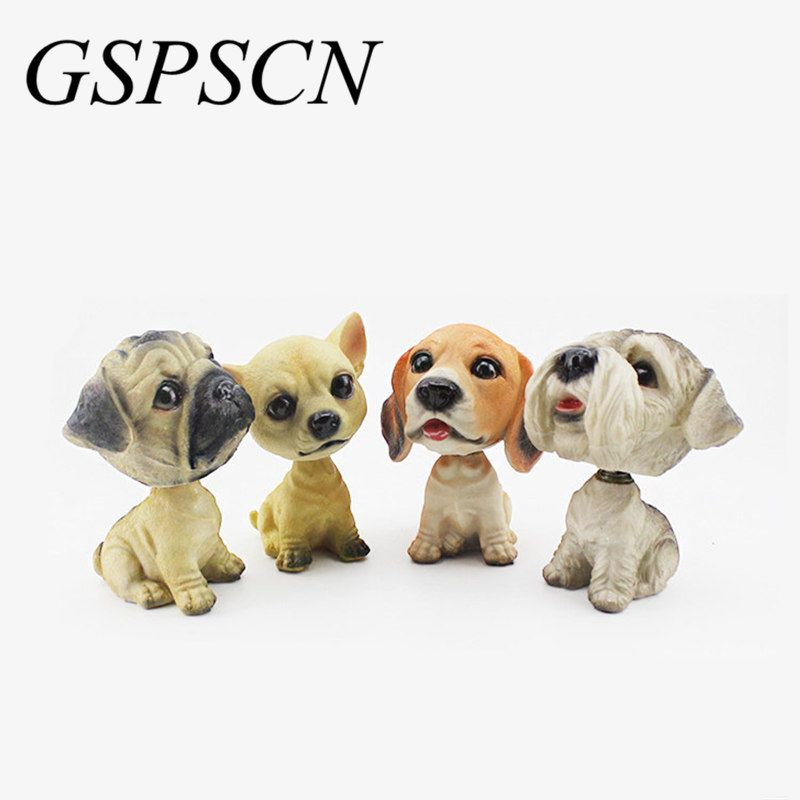 GSPSCN Car Styling New Cute Dog Doll Stickers Car Nodding Dog Shakes Head Shaking Dog For Decoration Furnishing Articles Car